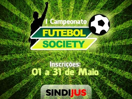 c52275c62a0a1 Promovendo um ambiente de socialização entre aqueles que fazem o Judiciário  sergipano, o SINDIJUS estará organizando o 1º Campeonato de Futebol Society.